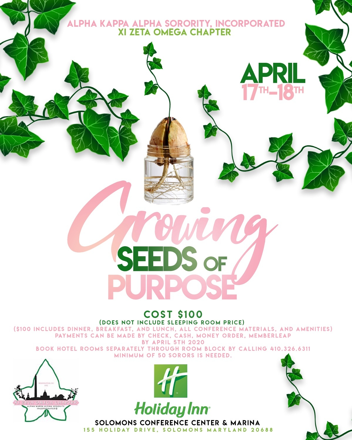 The 2020 Chapter Retreat is an event you do not want to miss. This year's theme is Growing Seeds of Purpose.